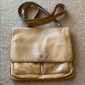 Fossil Crossbody Tan Leather bag purse